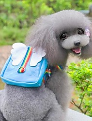 cheap -Cat Dog Commuter Backpack Dog Clothes Blue Pink Costume Mixed Material Cartoon Cosplay Waterproof Wedding S L
