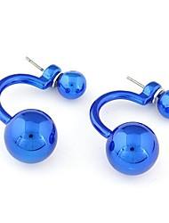 cheap -Women's Stud Earrings Ball Personalized Fashion Earrings Jewelry Golden / Purple / Blue For Daily
