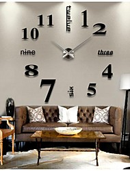 cheap -Creative Modern Style Diy 3D Sticker Wall Clock Home Decoration