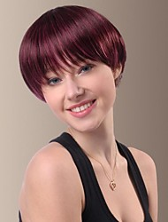 cheap -Specific Character Short Straight Hair Wigs with Full Bang
