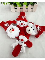 cheap -Christmas Gift Christmas Toy Slap Armband Snowman Cute Santa Claus Textile Kid's Boys' Girls' Toy Gift 1 pcs