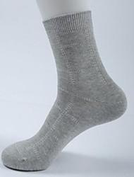 Недорогие -мужская мода чистый цвет теплый хлопок носки бизнес три пары (случайный цвет)