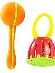 cheap -2PCS Baby Sand Hammer And Handle Cage Baby Ring Bell Toys