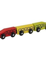 Недорогие -3-х частей дерева вагон набор игрушек