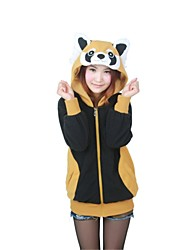 cheap -Cosplay Costume Kigurumi Pajamas Raccoon Bear Animal Onesie Pajamas Polar Fleece Black Cosplay For Unisex Animal Sleepwear Cartoon Festival / Holiday Costumes