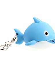 Недорогие -мультфильма дельфин вел свет со звуковыми эффектами брелок