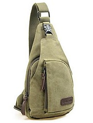 cheap -Men's Bags Canvas Sling Shoulder Bag Chest Bag Canvas Bag Daily Black Army Green Khaki Brown