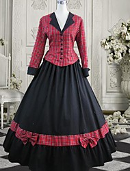 cheap -Dress Gothic Lolita Dress Lolita Accessories Dress Cotton Halloween Costumes / Long Length