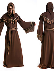 cheap -Witch Cosplay Costume Party Costume Men's Halloween Carnival Festival / Holiday Polyester Men's Carnival Costumes Solid Colored / Cloak
