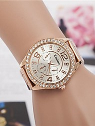 cheap -Women's Luxury Watches Wrist Watch Diamond Watch Quartz Ladies Fake Three Eyes Six Needles Analog Golden Rose Gold Silver / One Year / One Year / Jinli 377