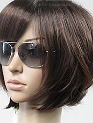 Недорогие -Парики из искусственных волос Прямой Стиль Стрижка боб Без шапочки-основы Парик Коричневый Искусственные волосы Жен. Коричневый Парик Короткие