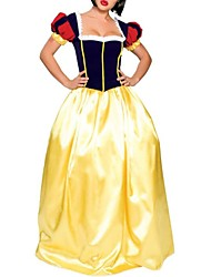 cheap -Princess Cosplay Costume Women's Sexy Uniforms Halloween Festival / Holiday Spandex Polyester Golden Women's Carnival Costumes / Top / Headwear