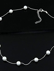 cheap -Pearl Necklace Ladies Personalized Simple Fashion Pearl Imitation Pearl Alloy Necklace Jewelry For Daily