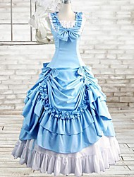 cheap -Gothic Lolita Dress Dress Cosplay Ink Blue Sleeveless Long Length Costumes