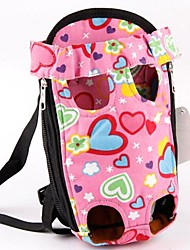 cheap -Dog Cat Front Backpack Adjustable Travel Carrier Bag Portable Soft Fabric Baby Pet Small Dog Outdoor Yellow Pink Blue