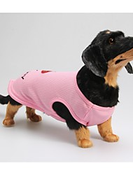 cheap -Dog Shirt / T-Shirt Puppy Clothes Letter & Number Casual / Daily Dog Clothes Puppy Clothes Dog Outfits Pink Costume for Girl and Boy Dog Cotton XXS XS S M L