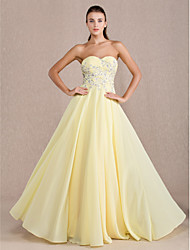 cheap -Sheath / Column Sweetheart Neckline Floor Length Chiffon Open Back / Pastel Colors / Beaded & Sequin Prom / Formal Evening Dress 2020 with Beading / Appliques / Criss Cross