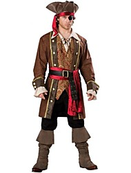 cheap -Pirate Cosplay Costume Men's Halloween Festival / Holiday Terylene Men's Carnival Costumes / Headpiece