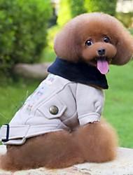 cheap -Cat Dog Coat Dog Clothes Beige Polar Fleece Costume For Winter Cosplay Wedding