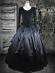 cheap -Dress Gothic Lolita Dress Lolita Accessories Solid Colored Dress Cotton Halloween Costumes / Long Length