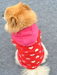 cheap -Cat Dog Hoodie Fleece Hoodie Winter Dog Clothes Rose Costume Polar Fleece Heart Fashion XS S M L