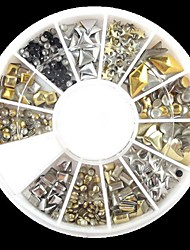 cheap -240pcs nail art mixed rivet shapes acrylic rhinestone random pattern
