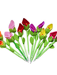 cheap -6PCS New Beauty Plush Calla Lily Flower Pens