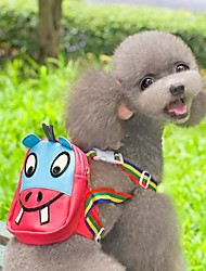 cheap -Cat Dog Commuter Backpack Dog Clothes Rose Costume Mixed Material Cartoon Cosplay Waterproof Wedding S L