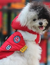 cheap -Dog Sweater Hoodie Winter Dog Clothes Warm Red Blue Costume Terylene Cotton XS S M L XL