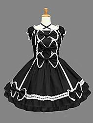 cheap -Princess Gothic Lolita Dress Women's Girls' Cotton Japanese Cosplay Costumes Vintage Sleeveless Medium Length