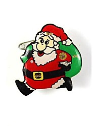 cheap -Toonykelly® LED Light Christmas Supplies Plastic Christmas Men Flash Brooch Toy(1PC)