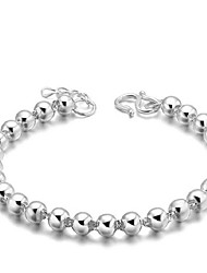 cheap -Women's Chain Bracelet Ladies Vintage Party Work Casual Sterling Silver Bracelet Jewelry Silver For Christmas Gifts Wedding Party Daily / Silver Plated