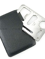 cheap -Credit Card Survival Tool Stainless Steel Outdoor Silver