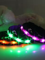 cheap -Cat Dog Collar LED Lights Cartoon Design Nylon Green Blue Pink