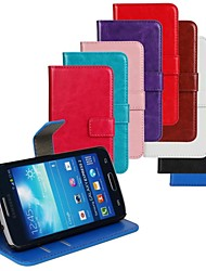 cheap -Case For Samsung Galaxy Express 2 Card Holder / with Stand / Flip Full Body Cases Solid Colored PU Leather