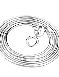 cheap -Women's Chain Necklace Snake Ladies Classic Sterling Silver White Necklace Jewelry For Party Gift Daily Casual