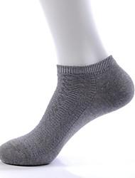 Недорогие -Три пары мужская мода чистый цвет дышащая хлопок лодыжки носок (случайный цвет)