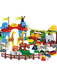 cheap -105PCS Plastic Zoo Building Block Bricks Puzzle Games Toys