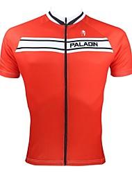 Недорогие -ILPALADINO Муж. С короткими рукавами Велокофты Красный Велоспорт Джерси Верхняя часть Дышащий Быстровысыхающий Ультрафиолетовая устойчивость Виды спорта 100% полиэстер / Шоссейные велосипеды