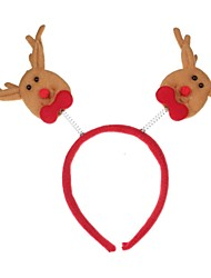 cheap -Red & Beige Christmas Decorations Head Buckle