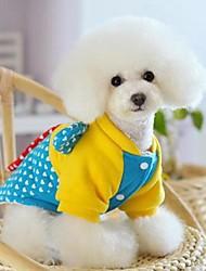 cheap -Cat Dog Coat Winter Dog Clothes Blue Costume Polar Fleece Cosplay Wedding XS S M L XL