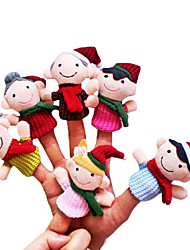 cheap -6 pcs Finger Puppets Novelty Textile Imaginative Play, Stocking, Great Birthday Gifts Party Favor Supplies Girls' Kid's Adults'
