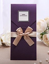 cheap -Wrap & Pocket Wedding Invitations Invitation Cards Classic Style Pearl Paper 21.5*11.5 cm Bows