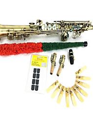 Недорогие -сопрано саксофон ретро медный плоский б (ушка оболочки ключ трубные модели тела высекает или конструкции на изделия из дерева прямой саксофон)
