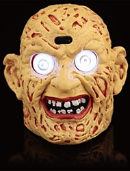 cheap -Terrible LED Eyes Plastic Zombie Head for Halloween
