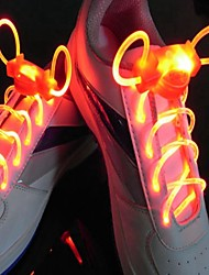 cheap -1 Pair Fashion LED Luminous Shoelaces Flash Party Glowing Strings Athletic Sport Sneakers Flat Shoes Laces Red