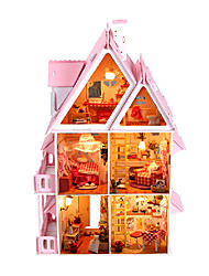 cheap -Dollhouse Model Building Kit Miniature Room Accessories Villa Country Creative DIY with LED Light Wood Kid's Adults' Boys' Girls' Toy Gift