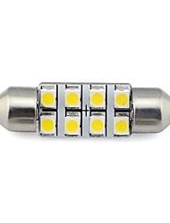 Недорогие -2 штуки 36 мм 8x3528 smd 1.3w 60lm автомобиль авто фестон свет для чтения номерного знака лампа белый теплый белый dc 12v