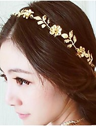 cheap -Women's Girls' Ladies Floral Basic Flowers Alloy Head Jewelry Headbands Casual Engagement Party