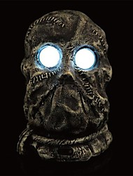 cheap -Terrible LED Eyes Plastic Ghost Head for Halloween